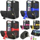 Color Hard Armor With Stand Case+Black AC Charger+Sticker For iPhone 6 4.7""