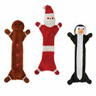 Unstuffie Holiday Christmas Santa Gingerbread Man or Penguin dog toy toys gift