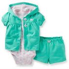 Carters Newborn 3 6 Months Whale Cardigan Short Set Baby Girl Outfit Clothes