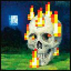 New Minecraft In Game Painting Flaming Skull Poster