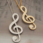 Women Men Trendy Music Symbol Pendant Long Chain Necklace Fashion Jewellery Gift