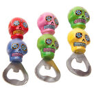Day Of The Dead Sugar Skull Floral Skeleton Shaped Stacked Gothic Bottle Opener