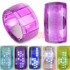 Unisex Sport LED Watch Wrist Bracelet Digital Quartz Jelly Fashion Candy Color