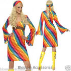 CL204 Rainbow Hippie 1960s Disco 1970s Retro Groovy Go Go Dance Party Costume