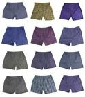 Men's King Pack Of 12 Assorted Plaid Boxer Underwear Multi-Colors M301