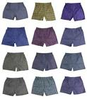 BRAND NEW MEN'S KING PACK OF 12 ASSORTED PLAID BOXER UNDERWEAR MULTI-COLORS 9161