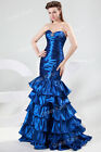 NEW Womens Ladies Evening Long Dresses Ball Gown Wedding Prom Formal BLUE STOCK