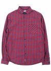 JACK AND JONES SIM CHECK SHIRT IN GINGHAM RED & NAVY *BNWT*
