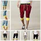 Mens New Sport Short Pants Summer Casual Cropped Trousers Drawstring Slacks