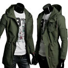 DISCOUNT   Mens Winter Warm Hooded Coat Long Windbreaker Parka Military Overcoat