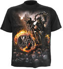 Spiral Direct WHEELS OF FIRE t-shirt/tee/top/tshirt, biker/tattoo/skeleton/skull