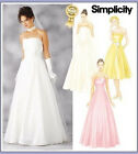 Sew & Make Simplicity 7068 SEWING PATTERN - Womens EVENING GOWNS FORMAL DRESSES