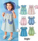 Sew & Make Simplicity 7189 SEWING PATTERN - Baby Girl DRESSES TOPS BLOOMERS HATS