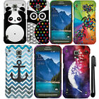 For Samsung Galaxy S5 Active G870A PATTERN HARD Case Phone Accessory Cover + Pen