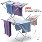 ELECTRIC HEATED CLOTHES AIRER DRYER INDOOR HORSE RACK LAUNDRY FOLDING WASHING