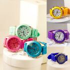 Unisex Geneva Silicone Jelly Gel Quartz Analog Sport Students Wrist Watch Gift