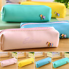 Horse Faux Leather Pencil Pen Case Cosmetic Pouch Pocket Purse Makeup Bag Zipper