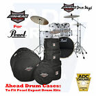 Ahead Armor Drum Cases/Bags for Pearl Export Fusion & Standard Rock Kit Sizes