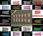 24 / 60 pcs European Style Full Nails (Short- Medium Size) with 2g Glue