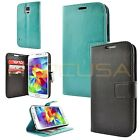 Luxury Leather Card Pocket Wallet Flip Case Cover for Samsung Galaxy S5 i9600