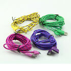 For iPhone 4 Micro USB Charger Charging 3M/10FT Hemp Rope Sync Data Cable Cord