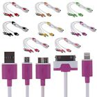 4in1 Micro USB Charger Charging Cable for iPhone 6 5 5S iPod Samsung S4 HTC LG