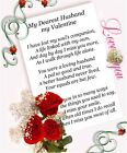 no3 Valentine Bereavement Grave Memorial Keepsake choose Husband Wife or Partner