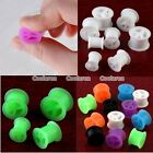 Pick Peace Sign Flexible Silicone Flared Ear Tunnel Plugs Expander Stretcher
