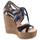 SOMERSET BY ALICE TEMPERLEY WISTERIA NAVY SUEDE WEDGE SANDALS NEW 4 6 7 RRP £168