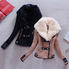 Winter Women's Faux Fur Collar Thicken Jacket Coat Warm Overcoat Trench Coat