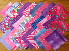 PINK/PURPLE BATIKS ~ FABRIC PATCHWORK SQUARES PIECES CHARM PACK 100% COTTON