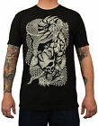 Men's Taken by Clark North Asian Japanese Dragon & Skull Tattoo Art T-Shirt Top