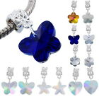1PC Glass Faceted Charm Dangle Bead Fit European Charm Bracelet