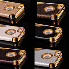 Luxury 5-Logo Flip Faux PU Leather Hard Case Cover Skin For Apple iPhone 5 5S