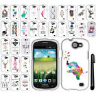 For Samsung Galaxy Express I437 Art Design PATTERN HARD Case Phone Cover + Pen