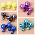 4/20pcs Pretty Fashion UV Plated ABS Studs Earrings Jewelry Findings 4 Colors C