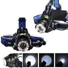 2000LM Zoomable CREE XM-L T6 LED Rechargeable Headlamp Torch Headlight 3-Mode LN