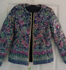 New Lilly Pulitzer 2-in-1 LILAH REVERSIBLE JACKET Navy Blue Down Puffer XS L NWT