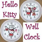 HELLO KITTY Tribute Wall Clock Happy Love Flower Purse Cat Kitten Kiti Kawaii