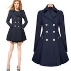 Fashion Solid Casual Slim Trench Outwear Coat Long Overcoat Autumn Spring Women