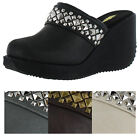 Volatile Kyla Women's Studded Wedge Clogs Shoes Mules