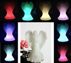 SOLAR ROSE FLOWER ANGEL GARDEN LAWN PATIO OUTDOOR COLOR CHANGE STAKE LED LIGHT