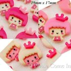 Kawaii Flat Back Resin Doll in Crown Cabochon Decoden Charm