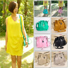 Celebrity New Women Vintage Faux Leather Tote Shoulder Bags Ladies Hobo Handbag