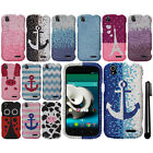 For ZTE Grand X Z777 DIAMOND BLING CRYSTAL HARD Case Phone Cover + Pen