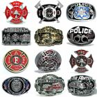 BBUM0328 FIRE DEPT FIREFIGHTER / POLICE SERVE & PROTECT OCCUPATION BELT BUCKLE