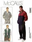 McCall's 3885 Sewing Pattern Men's Jackets, Vest & Pants - Fleece & Double Knits