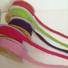 Eleganza Natural Woven Hessian Jute Ribbon Rustic - Various Colours 10mm - NEW