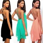 Sexy Women's Chiffon Backless Fashion Party Prom Evening Cocktail Dress Bodycon