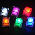 1x Light Up LED Ice Cubes Luminous in Water Party Bar Wedding Decoration 6Colors